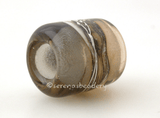 Sepia Gray Silvered Ivory Tube Big Hole Bead sepia and transparent grey with fine silver and silvered ivory european charm style bead13x11 mmprice is per bead Glossy,Matte