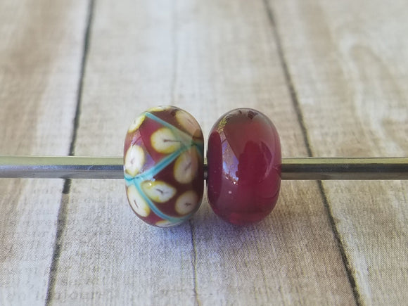 Gold Ruby White Heart gold ruby with a white heart 6x12 mm price is per bead Glossy,Matte
