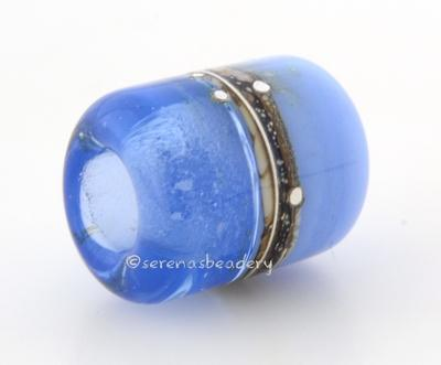 Halong Bay Zachary Silvered Ivory Tube Big Hole Bead halong bay and zachary blue with fine silver and silvered ivory european charm style bead13x11 mmprice is per bead Glossy,Matte