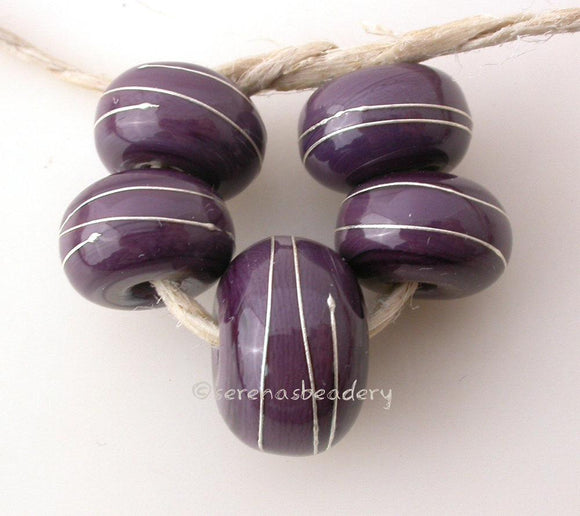 Dark Purple Fine Silver Wire Wraps Focal Set - Serena's Beadery