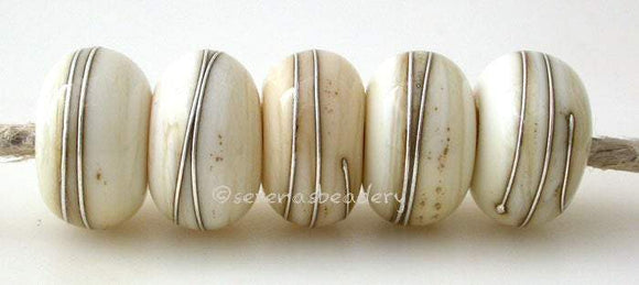 LIGHT IVORY with Fine Silver Wire Wraps - Serena's Beadery