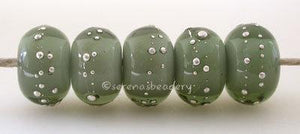 Dark Steel Gray Whiteheart fine Silver Droplets - Serena's Beadery