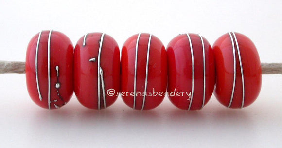 FIRE ORANGE Coral Silver Wraps - Serena's Beadery