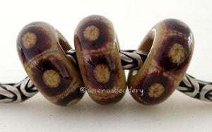 Mimicry European Charm Beads three chai and deep purple webbed european charm style6x14 mm with a 5mm hole Default Title