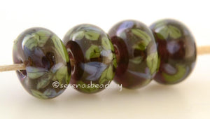 Nantahala Forest Deep purple lampwork glass beads with green and purple frit.Bead Size: 6x11-12 or 7x13-14 mmHole Size: 2.5 mmprice is for one bead with a discount for 4 or more 11-12 mm,Glossy,13-14 mm,Glossy,11-12 mm,Matte,13-14 mm,Matte