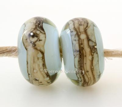 Pale Aqua Granite White Heart A pale aqua white heart bead with a stripe of silvered ivory granite6x12 mmprice is per bead Glossy,Matte