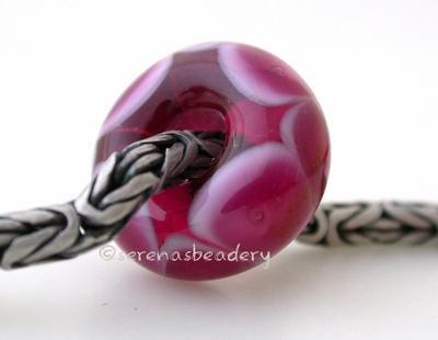 Pink Lady Rubino Bubble European Charm Bead one pink lady and rubino pink european charm bead with bubbles6x15mmprice is per bead Glossy,Matte