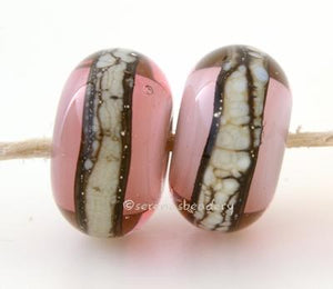 Pinky Peach Granite White Heart A peachy pink white heart bead with a stripe of silvered ivory granite6x12 mmprice is per bead Glossy,Matte