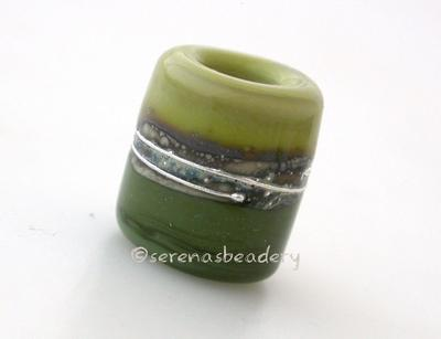 Pistachio and Olive Silver European Charm Bead