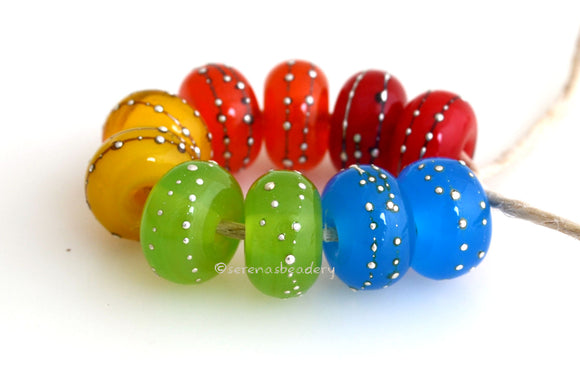 Assorted Popsicles Silver Dots #2113
