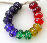 Rainbow Silver Wrapped Rondelle Set