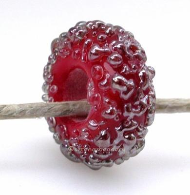 Red Lustre Sugar European Charm Bead one transparent red lustre sugar european charm bead5x13mm with a 5mm holeprice is per bead Default Title