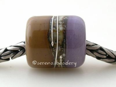 Sage New Violet Silvered Ivory Tube Big Hole Bead