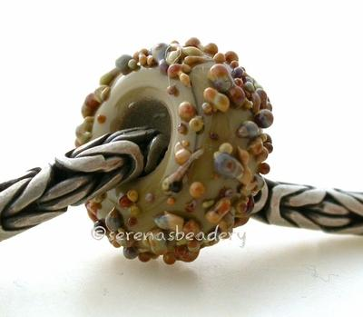 Sage Raku Sugar European Charm Bead sage with raku sugar european charm bead6x15mmprice is per bead Glossy,Matte