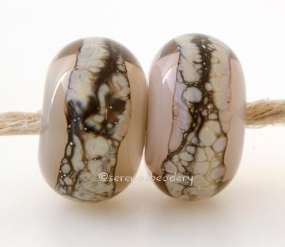 Sepia Brown Granite White Heart A sepia brown white heart bead with a stripe of silvered ivory granite6x12 mmprice is per bead Glossy,Matte