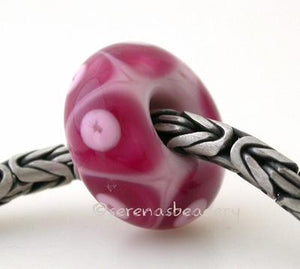 Triple Pink Dots European Charm Bead