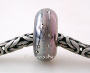 Triton Fine Silver Wrap European Charm Bead one triton luster handmade lampwork glass european charm spacer bead with a fine silver wrap5x13mm with a 5mm holeprice is per bead Default Title
