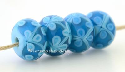 Turquoise Capri Blue Flowers one pair of light turquoise and capri blue beads with either light or dark turquoise flowers 6x12 mm 2.5 mm hole Glossy,light turquoise,Glossy,dark turquoise,Matte,light turquoise,Matte,dark turquoise