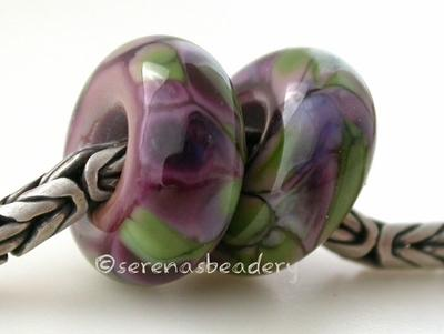 Violet Spring European Charm Beads violet spring european charm style beads5x13 mm with a 5mm holeprice is per bead Glossy,Matte