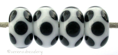 White Black Dice Dots #2117