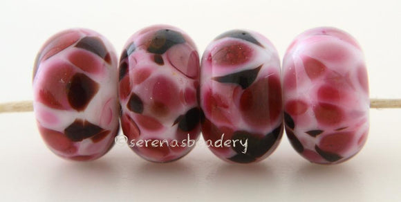Tickled Pink extremely pink lampwork beads Bead Size: 6x11-12 or 7x13-14 mmHole Size: 2.5 mmprice is for one 6x11mm bead 11-12 mm,Glossy,13-14 mm,Glossy,11-12 mm,Matte,13-14 mm,Matte