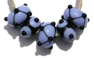 Abby 5 black and periwinkle beads with dots and spots. 5x11 mmAvailable in a variety of colors. Black with your choice from the drop down menu. Glossy,1204 White,Glossy,1212 Pea Green,Glossy,1213 Mint Green,Glossy,1219 Copper Green,Glossy,1220 Periwinkle,Glossy,1221 Lavender,Glossy,1222 Dark Periwinkle,Glossy,1224 Light Sky Blue,Glossy,1232 Light Turquoise,Glossy,1247 Lavender Blue,Glossy,1248 Light Grey,Glossy,1260BG Bubblegum Pink,Glossy,1264 Ivory,Glossy,1414 Butternut,Glossy,1416 Bright Acid Yellow,Glos