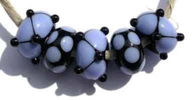Brenda 5 black and periwinkle beads with dots and spots5x11 mmAvailable in a variety of colors. Black with your choice from the drop down menu. Glossy,1204 White,Glossy,1212 Pea Green,Glossy,1213 Mint Green,Glossy,1219 Copper Green,Glossy,1220 Periwinkle,Glossy,1221 Lavender,Glossy,1222 Dark Periwinkle,Glossy,1224 Light Sky Blue,Glossy,1232 Light Turquoise,Glossy,1247 Lavender Blue,Glossy,1248 Light Grey,Glossy,1260BG Bubblegum Pink,Glossy,1264 Ivory,Glossy,1414 Butternut,Glossy,1416 Bright Acid Yellow,Glos
