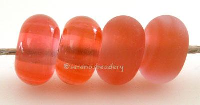 Light Sunset Coral Color Notes: an oddlot color that is no longer in production - once its gone, there will be no more 5x10 mm Available shapes and sizes:Round Bead Shapes: Available to order 8 to 15 mm with hole sizes ranging from 1.5 to 5 mm. See drop down menu for the exact options. Shown here in 8, 9 and 10 mm with both a 2.5 mm and 1.5 mm hole. 4 and 5 mm holes will fit European Charm style jewelry.Also available in a wavy disk or bead cap:. Pressed bead shapes:Lentil - 12x13 mm in size with a 1.5mm ho