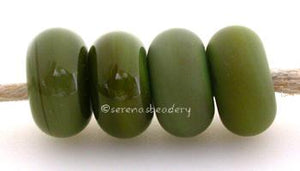 Green Bean Color Notes: an oddlot color that is no longer in production - once its gone, there will be no more 5x10 mm Available shapes and sizes:Round Bead Shapes: Available to order 8 to 15 mm with hole sizes ranging from 1.5 to 5 mm. See drop down menu for the exact options. Shown here in 8, 9 and 10 mm with both a 2.5 mm and 1.5 mm hole. 4 and 5 mm holes will fit European Charm style jewelry.Also available in a wavy disk or bead cap:. Pressed bead shapes:Lentil - 12x13 mm in size with a 1.5mm hole.: Pil