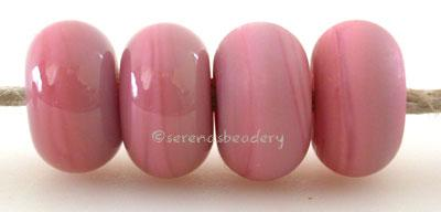 Smoothie Pink Color Notes: an oddlot color that is no longer in production - once its gone, there will be no more 5x10 mm Available shapes and sizes:Round Bead Shapes: Available to order 8 to 15 mm with hole sizes ranging from 1.5 to 5 mm. See drop down menu for the exact options. Shown here in 8, 9 and 10 mm with both a 2.5 mm and 1.5 mm hole. 4 and 5 mm holes will fit European Charm style jewelry.Also available in a wavy disk or bead cap:. Pressed bead shapes:Lentil - 12x13 mm in size with a 1.5mm hole.: