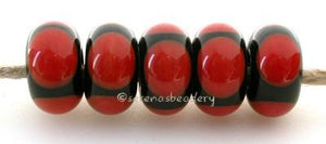 Black and Cinnamon Circle Dots black and cinnamon circle dots 5x11 mm price is per bead Glossy,Matte