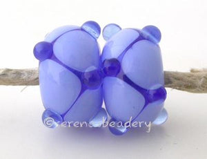 Blue Periwinkle Offset Dots dark blue and periwinkle blue offset dot beads. 6x12 mm price is per bead Glossy,12mm,Glossy,13mm,Glossy,14mm,Glossy,15mm,Glossy,16mm,Glossy,17mm,Matte,12mm,Matte,13mm,Matte,14mm,Matte,15mm,Matte,16mm,Matte,17mm