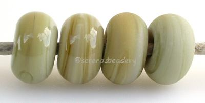 Pale Avacado Color Notes: an oddlot color that is no longer in production - once its gone, there will be no more 5x10 mm Available shapes and sizes:Round Bead Shapes: Available to order 8 to 15 mm with hole sizes ranging from 1.5 to 5 mm. See drop down menu for the exact options. Shown here in 8, 9 and 10 mm with both a 2.5 mm and 1.5 mm hole. 4 and 5 mm holes will fit European Charm style jewelry.Also available in a wavy disk or bead cap:. Pressed bead shapes:Lentil - 12x13 mm in size with a 1.5mm hole.: P