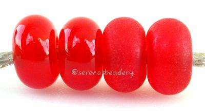 Red Carrot Sparkle Color Notes: an oddlot color that is no longer in production - once its gone, there will be no more 5x10 mm Available shapes and sizes:Round Bead Shapes: Available to order 8 to 15 mm with hole sizes ranging from 1.5 to 5 mm. See drop down menu for the exact options. Shown here in 8, 9 and 10 mm with both a 2.5 mm and 1.5 mm hole. 4 and 5 mm holes will fit European Charm style jewelry.Also available in a wavy disk or bead cap:. Pressed bead shapes:Lentil - 12x13 mm in size with a 1.5mm ho