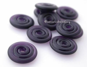 Violet Dark Tumbled Wavy Disk Spacer