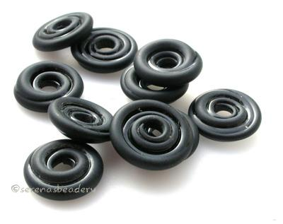 Black Tumbled Wavy Disk Spacer