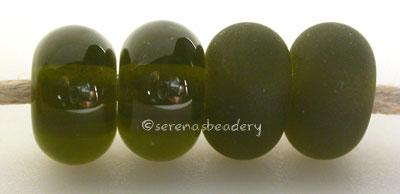 Fern Green Color Notes: an oddlot color that is no longer in production - once its gone, there will be no more 5x10 mm Available shapes and sizes:Round Bead Shapes: Available to order 8 to 15 mm with hole sizes ranging from 1.5 to 5 mm. See drop down menu for the exact options. Shown here in 8, 9 and 10 mm with both a 2.5 mm and 1.5 mm hole. 4 and 5 mm holes will fit European Charm style jewelry.Also available in a wavy disk or bead cap:. Pressed bead shapes:Lentil - 12x13 mm in size with a 1.5mm hole.: Pil