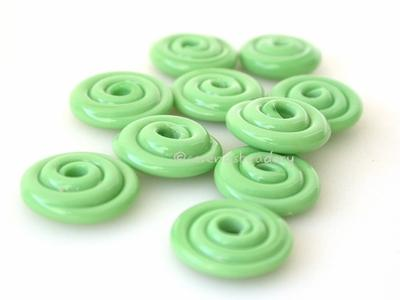 Nile Green Wavy Disk Spacer