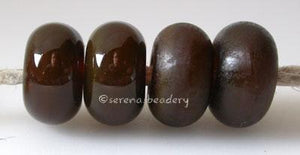 Dark Sable Color Notes: an oddlot color that is no longer in production - once its gone, there will be no more 5x10 mm Available shapes and sizes:Round Bead Shapes: Available to order 8 to 15 mm with hole sizes ranging from 1.5 to 5 mm. See drop down menu for the exact options. Shown here in 8, 9 and 10 mm with both a 2.5 mm and 1.5 mm hole. 4 and 5 mm holes will fit European Charm style jewelry.Also available in a wavy disk or bead cap:. Pressed bead shapes:Lentil - 12x13 mm in size with a 1.5mm hole.: Pil