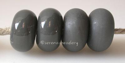 Deep Gray Color Notes: an oddlot color that is no longer in production - once its gone, there will be no more 5x10 mm Available shapes and sizes:Round Bead Shapes: Available to order 8 to 15 mm with hole sizes ranging from 1.5 to 5 mm. See drop down menu for the exact options. Shown here in 8, 9 and 10 mm with both a 2.5 mm and 1.5 mm hole. 4 and 5 mm holes will fit European Charm style jewelry.Also available in a wavy disk or bead cap:. Pressed bead shapes:Lentil - 12x13 mm in size with a 1.5mm hole.: Pill