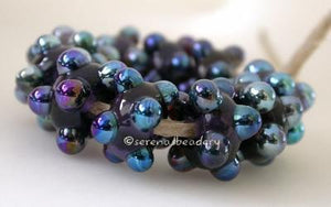 Purple Psyche Raised Dots Light violet purple with raised psyche luster dot beads 6x12 mm price is per bead Default Title