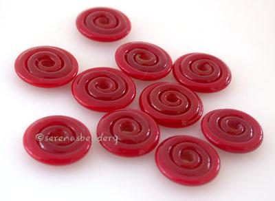 Deep Red Wavy Disk Spacer 10 wavy disks in deep red2 sizes available: 11-12 mm with 1.5 mm hole or 13-14 mm with 2.5 mm holeprice is per 10 disks 11-12 mm 1.5 mm hole,12-13 mm 2.5 mm hole