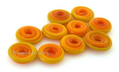 Yellow Ocher Wavy Disk Spacer