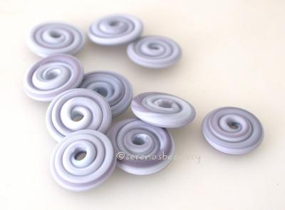 Blueberry Marble Matte Wavy Disk Spacer