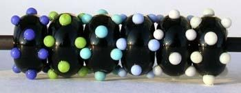 Black and Colored Raised Dice Dots