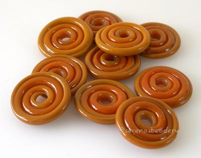 Butterscotch Wavy Disk Spacer 10 wavy disks in butterscotch2 sizes available: 11-12 mm with 1.5 mm hole or 13-14 mm with 2.5 mm holeprice is per 10 disks 11-12 mm 1.5 mm hole,12-13 mm 2.5 mm hole