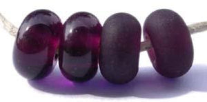 Dark Amethyst Color Notes: transparent dark amethyst 5x10 mm Available shapes and sizes:Round Bead Shapes: Available to order 8 to 15 mm with hole sizes ranging from 1.5 to 5 mm. See drop down menu for the exact options. Shown here in 8, 9 and 10 mm with both a 2.5 mm and 1.5 mm hole. 4 and 5 mm holes will fit European Charm style jewelry.Also available in a wavy disk or bead cap:. Pressed bead shapes:Lentil - 12x13 mm in size with a 1.5mm hole.: Pillow 13 mm square with a 1.5 mm hole.: Tab: Default Title