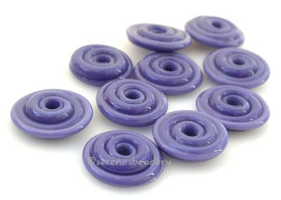 Lilac Purple Wavy Disk Spacer