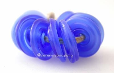 Mystic Blue Wavy Disk Spacer