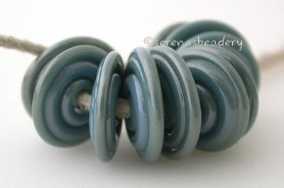 Sterling Blue Wavy Disk Spacer
